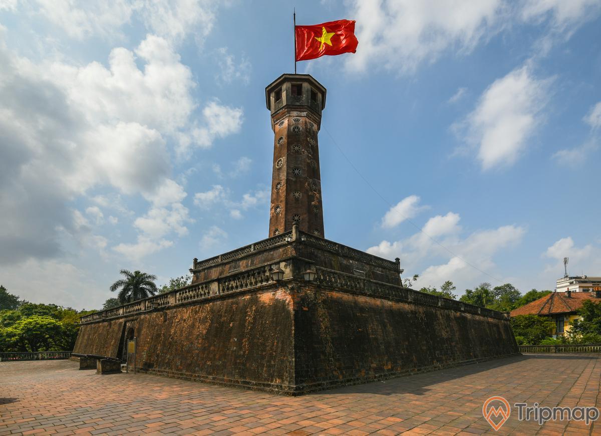 Cột cờ Hà Nội, ảnh chụp lá cờ Việt Nam ngoài trời
