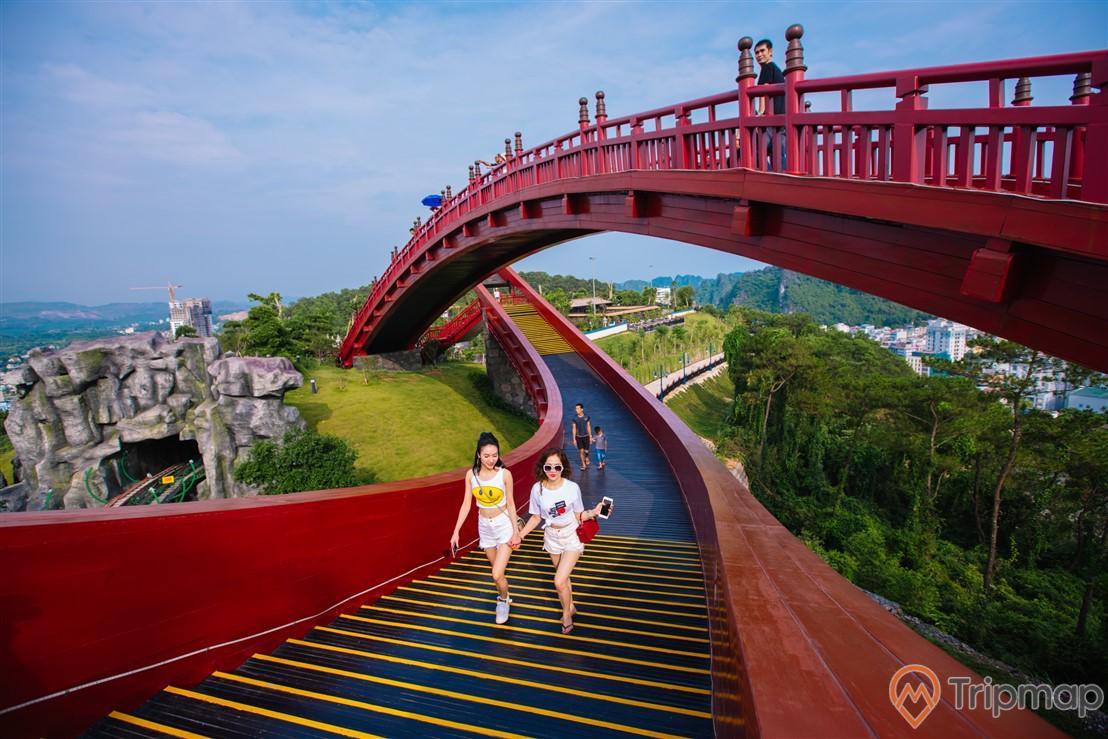 Cầu Koi luôn là sự lựa chọn check-in hàng đầu cho khách du lịch