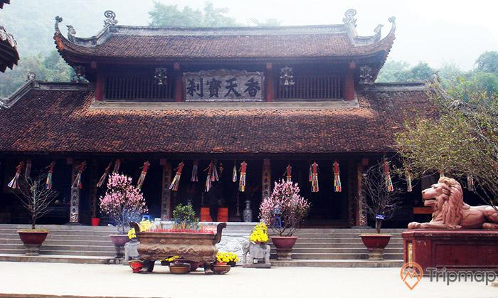 Kiến trúc chùa Trình mang đậmgiá trị văn hóa Phật giáo Đại Thừa