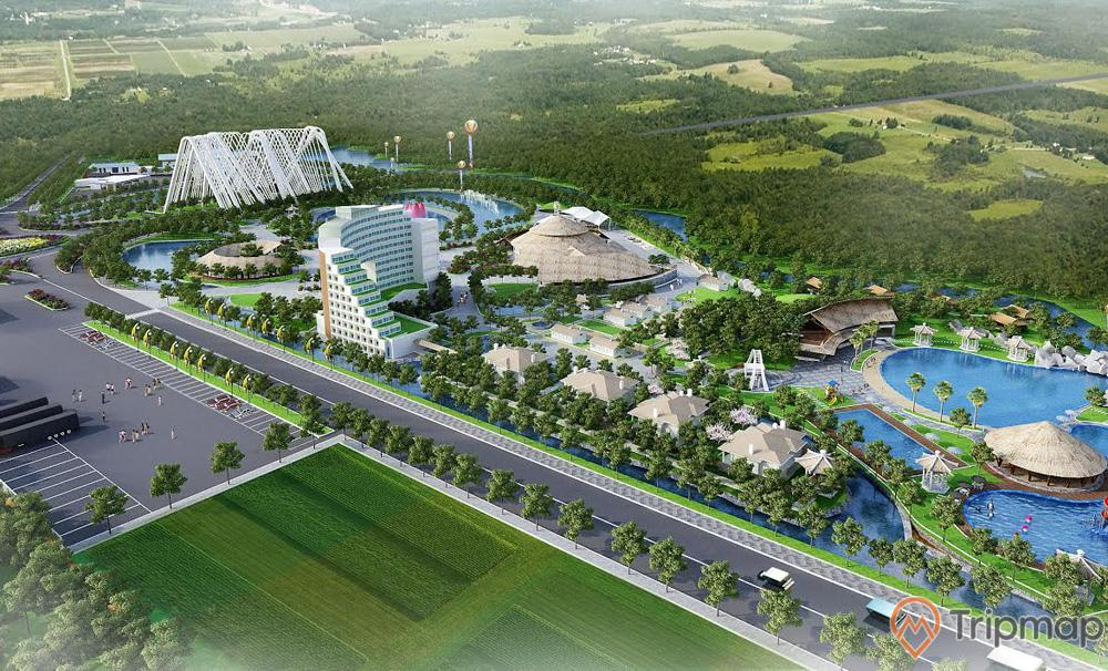 Quảng Ninh Gate, mô hình 3D, nhiều cây xanh