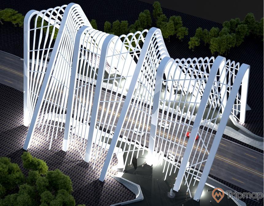 Cổng tỉnh Quảng Ninh trên thiết kế 3D
