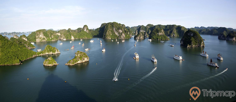 Nhiều tàu du lịch đến tham quan khu sinh thái, Vinh Hạ Long