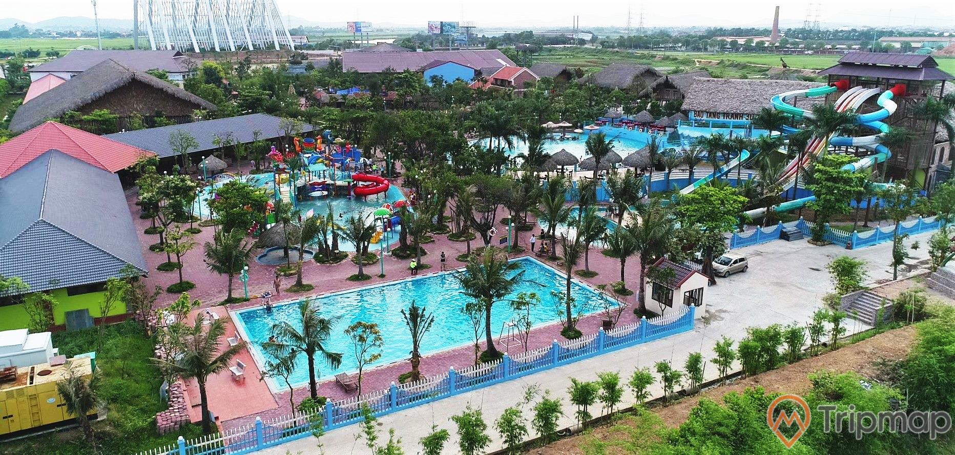 Khu công viên nước - một điểm vui chơi trong khu phức hợp giải trí tại Quảng Ninh Gate