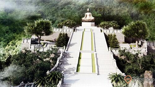 Bảo tượngPhật Hoàng Trần NhânTông giữa thiên nhiên Yên Tử